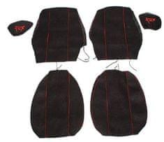 F-CORE Potahy na sedadla CS12 RD, černé