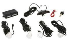 M-Tech Parkovací asistent s digitálním displejem, zadní, barva bílá, průměr senzorů 21,5 mm