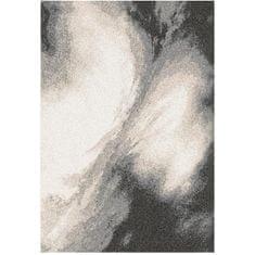 Koberec, biela/hnedá/čierna, 67X120, TOCAR