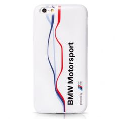 Bmw ovitek za iPhone 6/6S M Tricolor Stripe Tpu White
