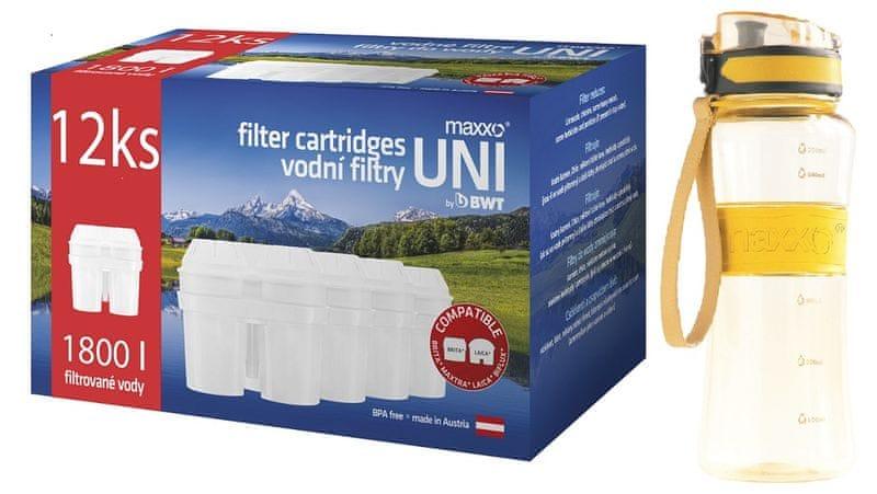 MAXXO UNI filtry 12 ks + sportovní láhev