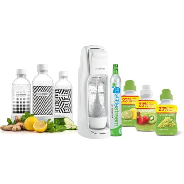 Sodastream JET WHITE PARTY PACK