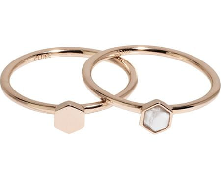Zestaw dwóch pierścieni z sześciokątami CLJ40001 (obwód 52 mm)