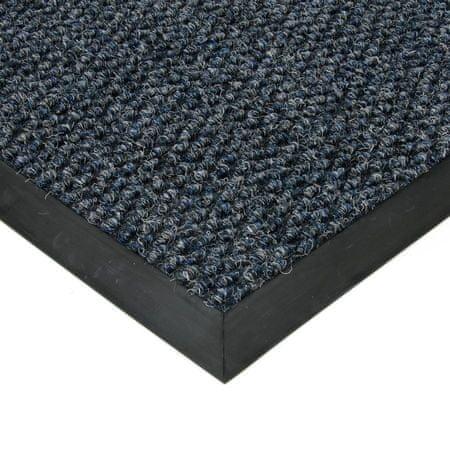 FLOMAT Modrá textilní zátěžová vstupní čistící rohož Fiona - 400 x 200 x 1,1 cm
