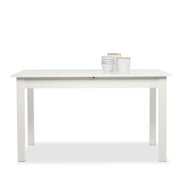 FARELA Jídelní stůl rozkládací Kronborg, 160 cm, bílá