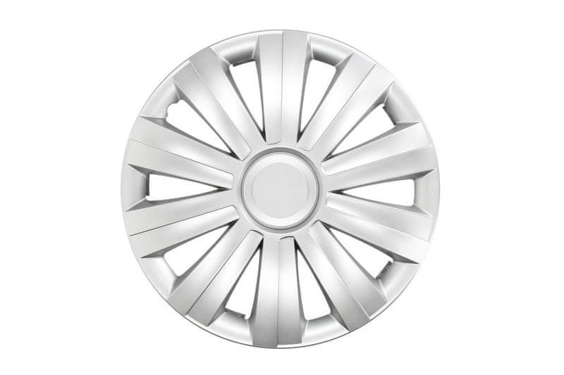 """MAMMOOTH Poklice na kola SNAKE vel. 16"""", sada 4 ks, stříbrné"""