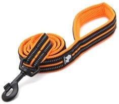 povodec Walk, 200 cm, črn/oranžen, L