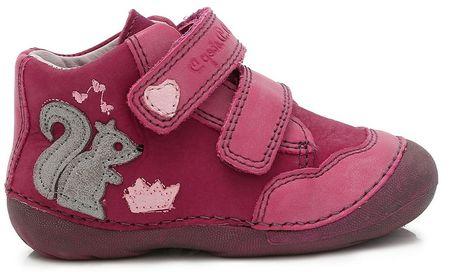 D-D-step dívčí kotníkové boty 19 fioletowy