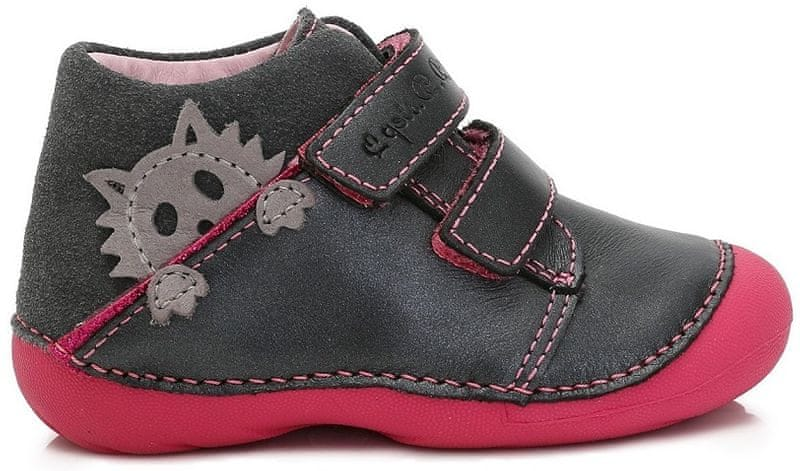 47b6bf10c86 D-D-step dívčí kotníkové boty 21 šedá