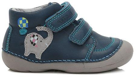 D-D-step chlapecké kotníkové boty 19 modrá  721af375ce