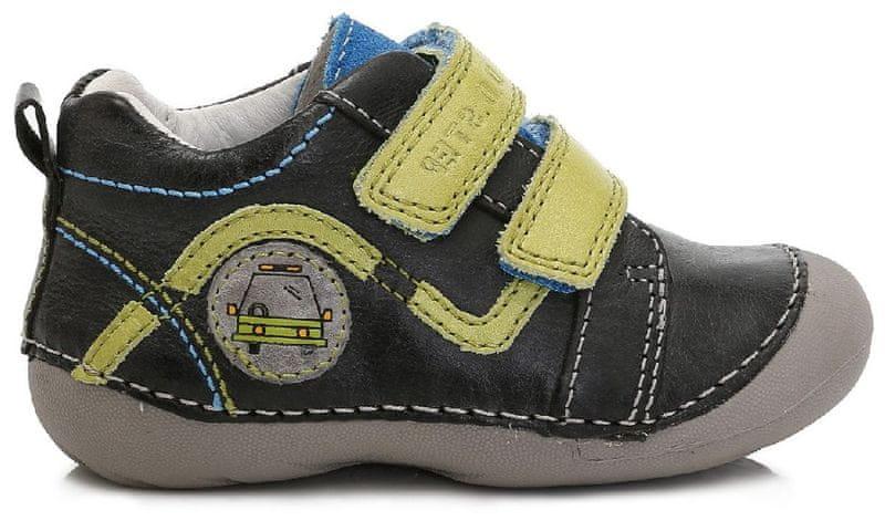 D d step chlapecke kotnikove boty 23 cerna levně  7eb85c9fdf