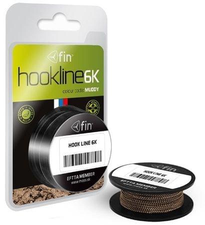 FIN Návazcová Šňůrka Hookline 6K Muddy 20 m 35 lb