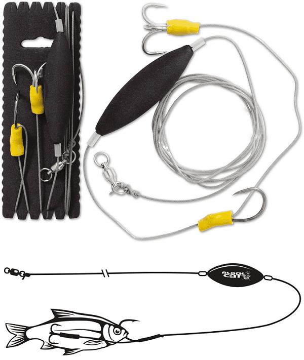 Black Cat Návazec UnterwasserPosen Rig 180 cm 100 kg 4/0