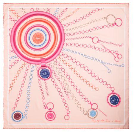VERSACE 19.69 dámský růžový šátek Sunshine