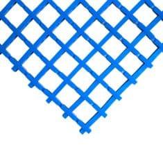 Modrá olejivzdorná protiskluzová průmyslová univerzální rohož (mřížka 22 x 22 mm) - 1,2 cm