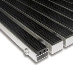FLOMAT Gumová hliníková venkovní vstupní rohož Alu Standard, FLOMAT - 2,2 cm