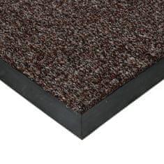 FLOMAT Hnědá textilní zátěžová čistící vnitřní vstupní rohož Catrine, FLOMAT - 1,35 cm