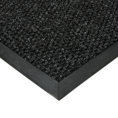 FLOMAT Černá textilní zátěžová čistící vnitřní vstupní rohož Fiona, FLOMAT - 1,1 cm