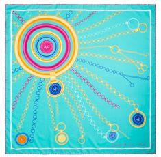 VERSACE 19.69 dámský tyrkysový šátek Sunshine