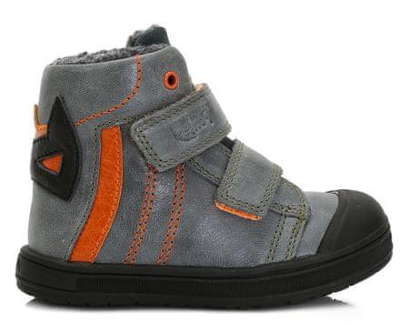 Ponte 20 chlapecké kožené boty 23 oranžová/šedá