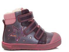 Ponte 20 dívčí kožené boty s hvězdou