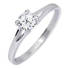 Brilio Silver Stříbrný zásnubní prsten s krystalem 426 001 00508 04 - 1,35 g stříbro 925/1000