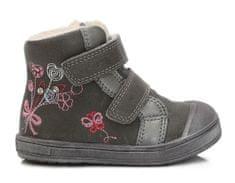 Ponte 20 dievčenské kožené topánky s kvetinkami