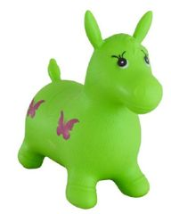 Teddies Hopsadlo kůň skákací gumový zelený 49x43x28 cm v sáčku
