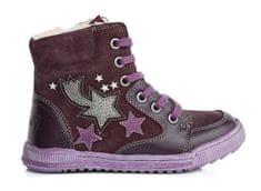 Ponte 20 dívčí kožené boty s hvězdami