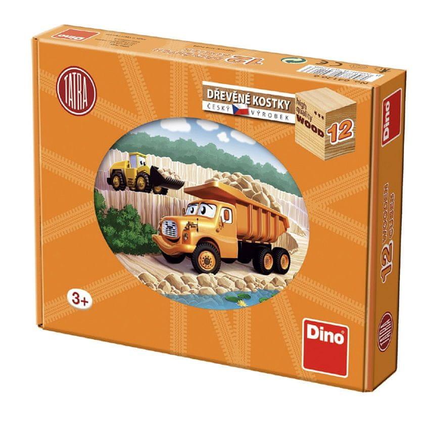 Dino Kostky kubus Tatra 12 dřevo 12ks v krabičce 22x17x4 cm