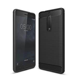 Silikonski ovitek Mat Carbon za LG K11 in LG K10 2018, črn