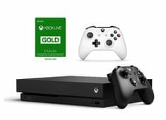 Microsoft Xbox One X 1TB + Ovladač + Xbox Live Gold - 12 měsíců