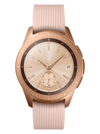 SAMSUNG Galaxy Watch 42mm, Rose Gold (SM-R810NZDAXEZ)