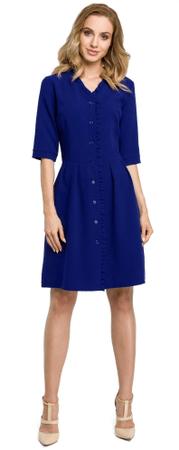 Made of Emotion sukienka damska S ciemny niebieski