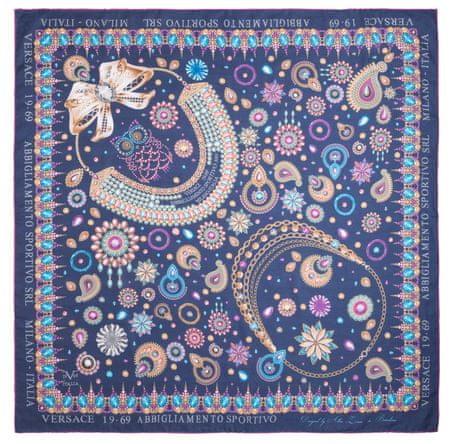VERSACE 19.69 dámský tmavě modrý šátek Jewels