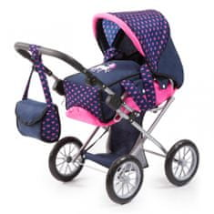 Bayer Design Kočárek pro panenky City star - modrá/růžová