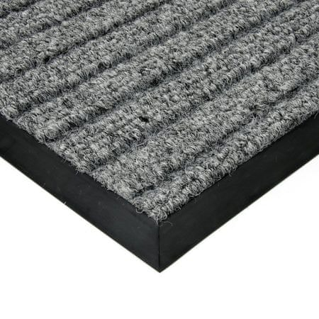 FLOMAT Šedá textilní zátěžová čistící rohož Shakira - 500 x 200 x 1,6 cm