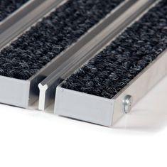 FLOMAT Textilní hliníková kartáčová vnitřní vstupní rohož Alu Wide, FLOMAT - 2,2 cm