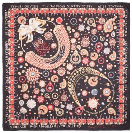 VERSACE 19.69 dámský hnědý šátek Jewels