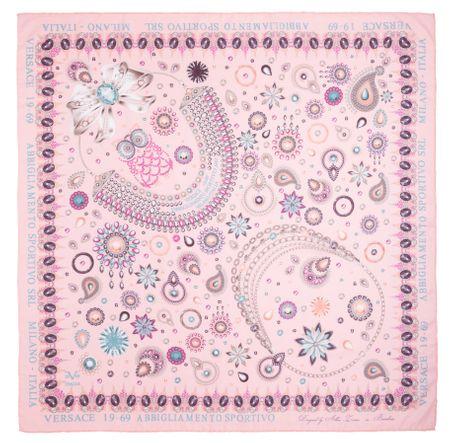 VERSACE 19.69 dámský světle růžový šátek Jewels