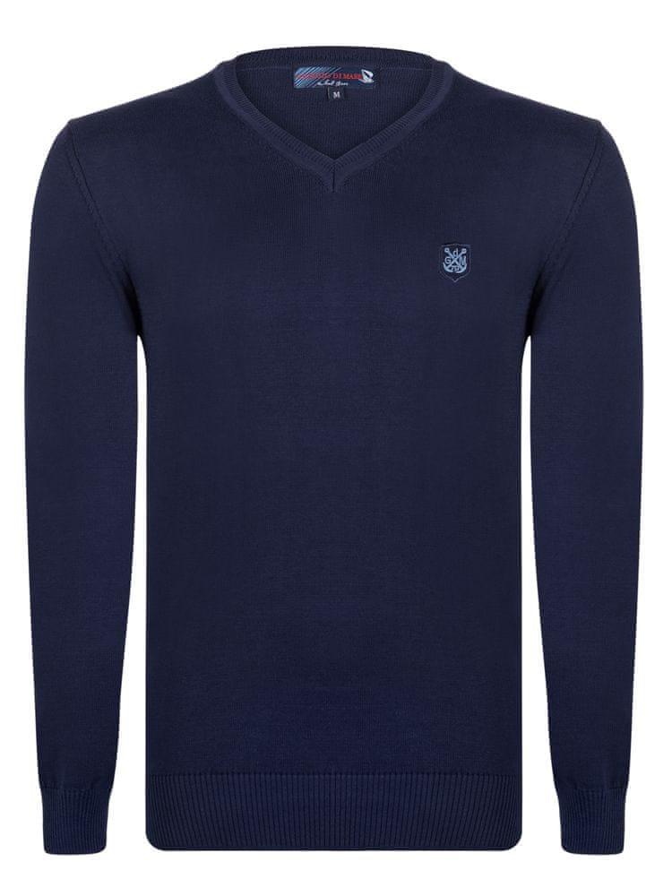 4504158211d Giorgio Di Mare pánský svetr M tmavě modrá