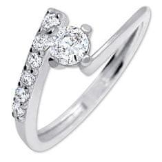 Brilio Silver Pěkný zásnubní prsten 426 001 00435 04 - 1,65 g stříbro 925/1000