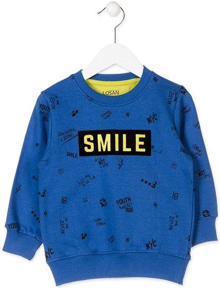 cd5df011644 Losan chlapecká mikina 110 modrá