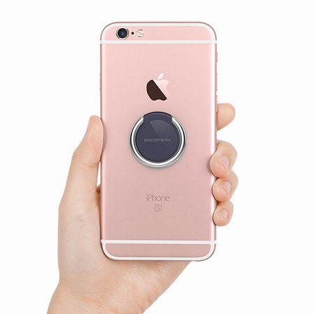 Goospery Ring 360 držalo za mobilne telefone, črno in srebrno