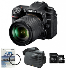 Nikon fotoaparat D-7500 kit 18-105VR + Fatbox 32GB + UV filter