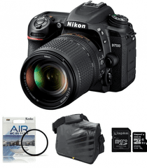 Nikon fotoaparat D-7500 kit 18-140VR + Fatbox 32GB + UV filter