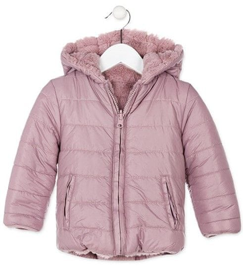 Losan dívčí oboustranná zimní bunda 110 růžová