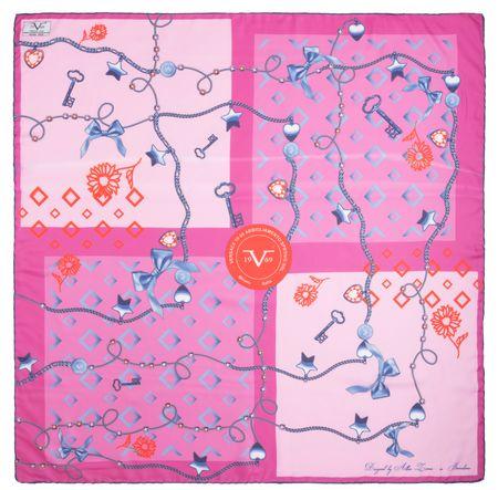 VERSACE 19.69 Master Key rózsaszín női kendő