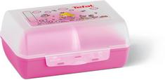 Tefal posoda pa malico Variobolo Clipbox K3160214, prosojno roza
