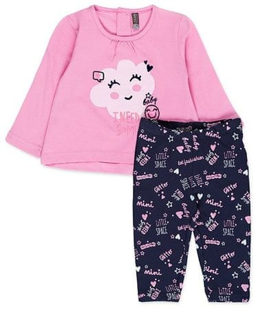 Losan dívčí set trička a legín 68 růžová